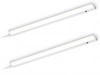 2er Set LED Lichtleisten 77, 7cm Unterbauleuchte mit Bewegungssensor Küchenlampen