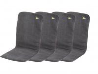 4er-Set Gepolsterte Sitzauflage Sitzkissen Bezug Anthrazit 125 x 54