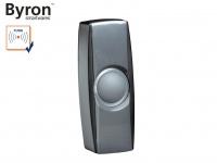 Beleuchteter Funk Klingeltaster schwarz für drahtlos Türklingeln Byron BY-Serie