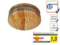 Rauchmelder Holzoptik 5 JAHRES Batterie, 1 x Versand zahlen-Mehrzahl kaufen!