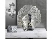 Kleine Tischleuchte silberfarben, Tischlampe für Beleuchtung von Flur & Wohnraum