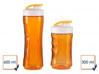 DOMO 2er-Set Ersatzflaschen Smoothie Maker Mixer DO435BL 300+600ml orange