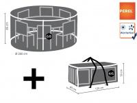 Schutzhülle Abdeckung rund für Gartenmöbel, Plane Ø 260cm witterungsbeständig