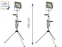 2er SET LED Fluter mit Stativ, Baustrahler, Arbeitsleuchte, Werkstattlampe