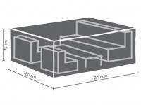 Schutzhülle Abdeckung M für Loungemöbel, 240x180cm, Abdeckplane Lounge Garten
