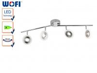 4-flammige LED Deckenlampe DIVINA, Spots schwenkbar, Deckenleuchte Spotleiste