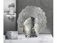 Tischleuchte 51cm silberfarben, Tischlampe für Beleuchtung von Flur & Wohnraum