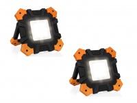 Klappbares & dimmbares LED Outdoor Baustrahlerset mit Akku, Arbeitsscheinwerfer