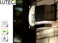 Edelstahl LED Außenwandleuchte eckig H. 15, 8cm Fassadenbeleuchtung Wandleuchte