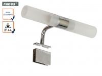 LED Badlampe 2flammig Wandleuchte Spiegelleuchte, Badezimmerleuchte Klemmbügel