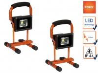 2er Set tragbare 10W LED Baustrahler, Fluter Arbeitsleuchten Baustelle