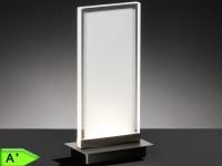 LED-Tischleuchte FORMA Acrylglas rechteckig, Nachttischlampe Honsel-Leuchten