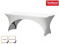 Hochwertige STRETCH Tischhusse weiß 180 x 75cm, Tisch Bezug Decke Hussen
