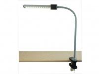 Biegsame LED Klammerleuchte Leseleuchte mit Schnurschalter & Flexrohr LED-Strip