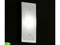 LED-Wandleuchte Chrom mit Glas in matt weiß Honsel-Leuchten LIANA
