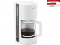 Moderne 1, 2 Liter Kaffeemaschine Arktisch Weiß von PETRA für 10-12 Tassen