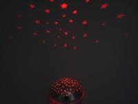 LED Nachtlicht in Chromoptik, projiziert bunte Sterne, Schlaflicht METALLIC NEU