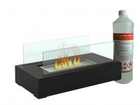 Tischkamin mit 1Liter Bio Ethanol, Tischfeuer Glaskamin Luxus Kamin Feuer