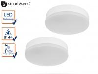 2 LED Deckenleuchten / Außenleuchten Ø 22cm IP44 Bewegungsmelder Flurleuchte