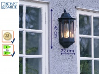 Außenwandleuchte Alu schwarz, E27, Wandleuchte Hauswand Terrasse Garten Lampe