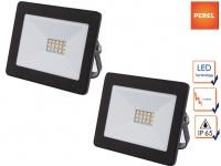 2er Set 10W LED Baustrahler klein für Außen, Fluter Strahler Scheinwerfer IP65
