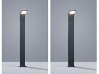 2er SET LED Pollerleuchte Gehwegleuchte in anthrazit, Pfahlleuchte IP54, H100cm