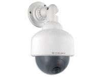 Täuschend echte Dome-Kamera-Attrappe mit blinkender LED-Anzeige