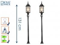 2er-Set Wegeleuchten MILANO mit Bewegungsmelder in Bleikristalloptik