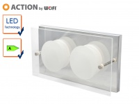 2-flammige LED Wandleuchte ENVY, 11, 5x22cm, Wandlampe LED Wandleuchte Designer