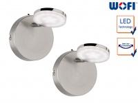 2x LED Wandleuchte Spot Nickel matt 4W Wandstrahler Wohnzimmerleuchte Flurlampe