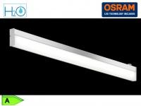 Bad-Wandleuchte, ink. 1 x 9W LED, Länge 88cm, IP44, m. Schalter Chrom