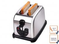 2 Scheiben Edelstahl Profi Toaster Toastautomat 2 Schlitz 850-1000 Watt