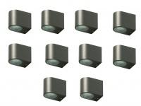 10x LED Außenwandleuchte Bastia Aluminium Anthrazit Down Light Wandleuchte Außen