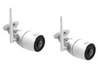 Outdoor IP Kameraset 180° mit Nachtsicht, Überwachungskamera mit Aufzeichung App