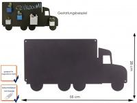 Wandaufbewahrung Memoboard Magnettafel Lastwagen Metall 55 x 28cm, KalaMitica