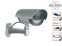 Kamera Attrappe IR-LED's Aluminium silber - Fake Dummy Innen & Außen Überwachung