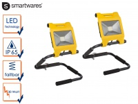 2x LED Fluter Arbeitsscheinwerfer 30W faltbar Baustellenstrahler Arbeitsleuchte
