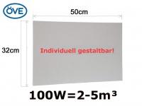 100W Infrarotheizung, 50x32cm, für Räume 2-5m³, bemalbar, IP44