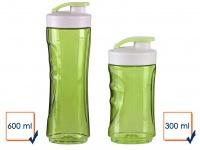 DOMO 2er-Set Ersatzflaschen für Smoothie Maker Mixer DO436BL 300+600ml grün