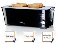 Toaster schwarz B-Smart Toaster 4 Scheiben Auftau- und Röstfunktion Toster