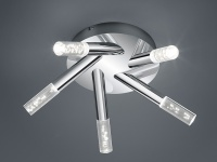 LED Deckenleuchte Badezimmerlampe Serie 2824 Chrom Acryl Ø41, 5cm IP44