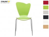 Design Stuhl HEART in grün, Stapelstuhl Esszimmerstuhl Bistrostuhl Schalenstuhl