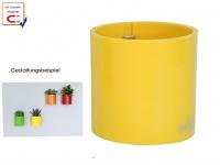 Kunststofftopf mit Magnet Ø 10 cm, Gelb, Wandaufbewahrung Wanddeko, KalaMitica