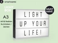 Light-Box Leuchtkasten A3 mit 85 Buchstaben + Symbolen, batteriebetrieben