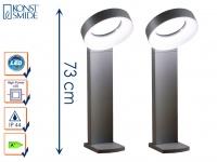 2er-Set Wegeleuchten ASTI, anthrazit, 18W HP-LEDs, 1400 Lumen, 5000K