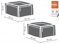 2er Set Gartenmöbel Schutzhüllen / Abdeckungen für Hocker, 95x95cm, wasserdicht