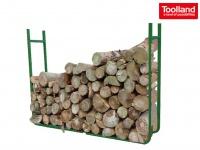 Brennholz Stapelhilfe, Holzlager Metall, B 120cm variabel, Holzablage Regal
