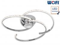 LED Deckenleuchte Chrom Acrylsteine Ø 47cm 27W Deckenlampen Deckenleuchte modern