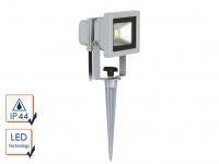 LED Fluter 10W auf Erdspieß / Gartenleuchte, 6400K, 600Lm, IP44