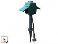 Gartensteckdose mit Dämmerungsschalter + Countdown Zeitschaltuhr max. 3680 Watt
